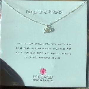 Dogeared hugs & kisses xo sterling silver necklace